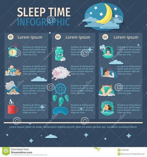 Sleep Time Infographics Stock Vector   Image: 51824239