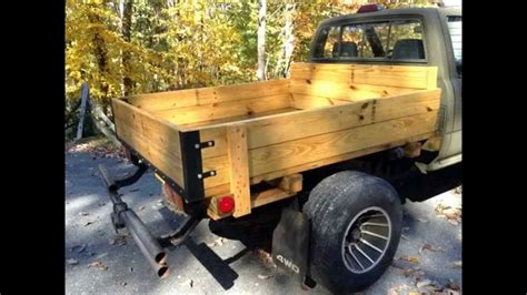 wooden truck bed home made toyota wooden flatbed youtube