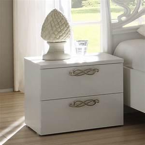 Table De Chevet Design : tables de chevet blanches maison design ~ Teatrodelosmanantiales.com Idées de Décoration