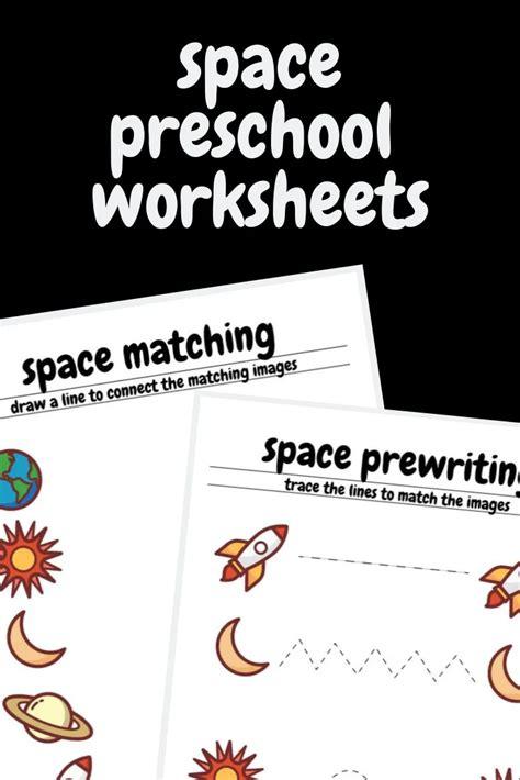 space preschool worksheets  images preschool