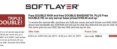 Double The Ram, Bandwidth, & Space On Softlayer Dedicated