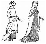 1307 Costume Calthrop 1272 Edward Medieval Century Drawing 14th Ladies Early 1066 Clayton Dion History Robes Trends sketch template