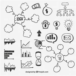 Hand Drawn Business Diagrams Vector