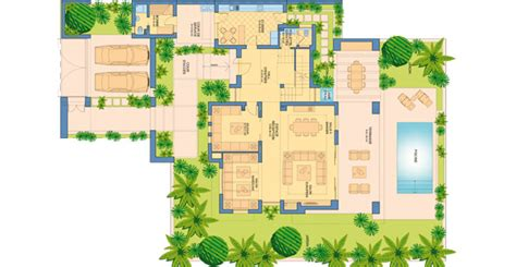 Plan Villa Grouped 3 Fronts