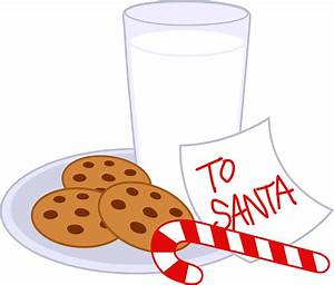 Cookies and Milk For Santa Claus - Free Clip Art