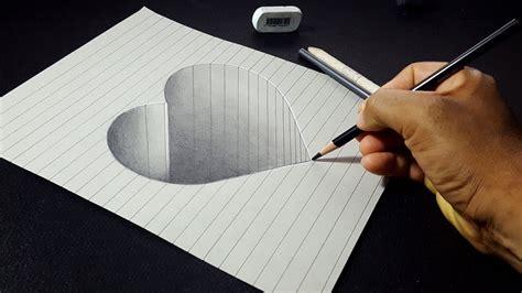 draw   hole heart shape easy  drawings