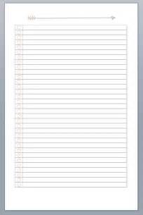 list printable fill in the topic at the top blank line