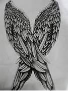 Dark Angel Wings Drawi...
