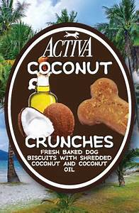 coconut crunch dog biscuits pet39s barn With activa dog food