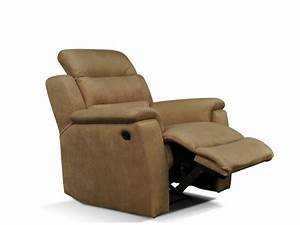 fauteuil relax microfibre beige simono With tapis de marche avec canape fauteuil relax microfibre