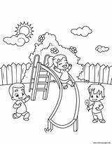 Coloring Slide Down Pages Children Printable sketch template