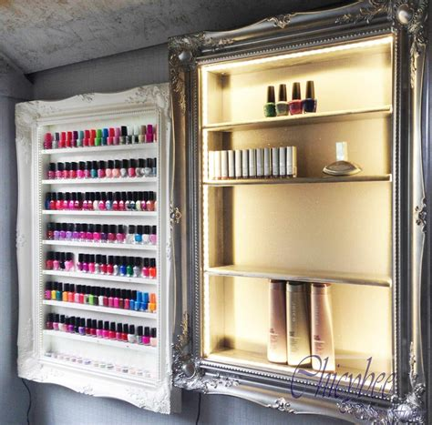 beauty display cabinet led illuminated silver chrome beauty retail