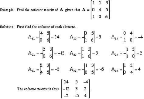find jordan form representation of the following matrices mathwords cofactor matrix