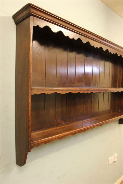 oak hanging plate rack wall shelves