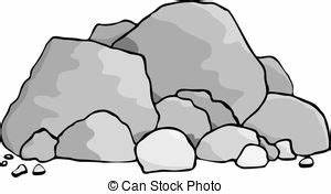 Rock clipart animated - Pencil and in color rock clipart ...