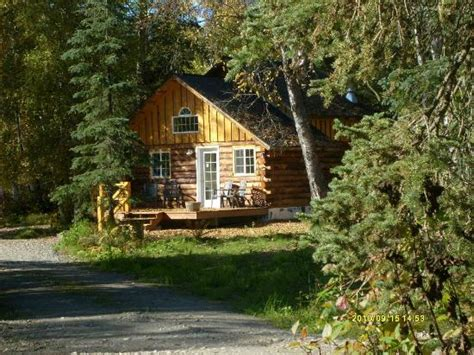 """little Cabin In The Woods""  Picture Of Denali Fireside"