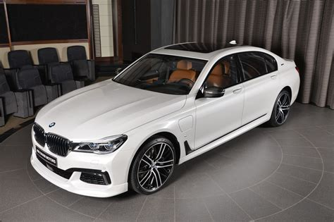 White Bmw 740le Wears M Sport Kit Like Badge Of Honor