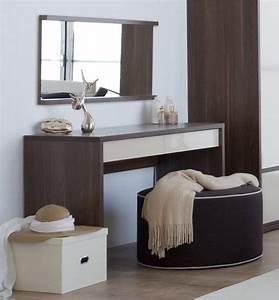 Coiffeuse En Bois Petite Fille : meuble coiffeuse pas cher et design pour chambre a coucher tendance a complter avec son pouf ~ Teatrodelosmanantiales.com Idées de Décoration