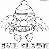 Clown Coloring Scary sketch template