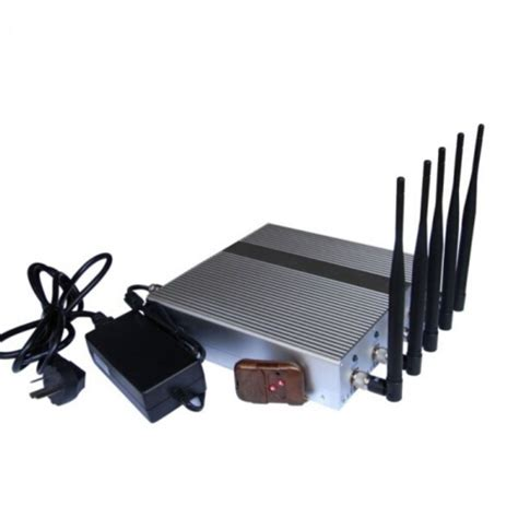 remote cell phone 5 band cellphone signal blocker jammer with remote cpj9000