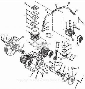 Campbell Hausfeld Dp4460ta Parts Diagram For Pump Parts