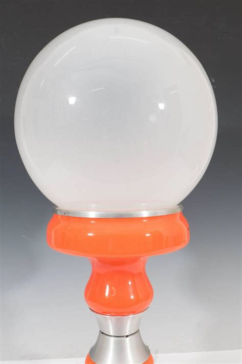 glass globe table l vintage italian frosted glass globe table l in orange