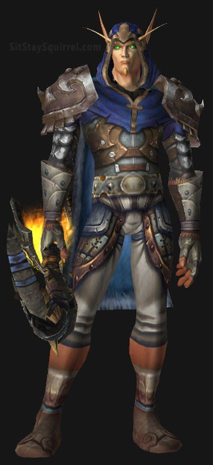 transmog wow sets hunter elf blood warcraft male hunters cool paladin armor rogue elves superhero fantasy batman gold gear silver