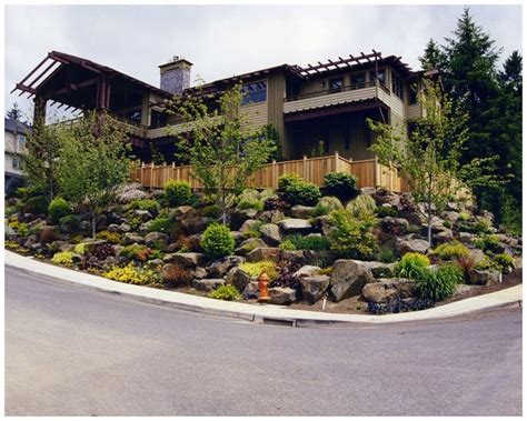 landscaping ideas for a sloped front yard sloping front yard landscaping ideas garden pinterest