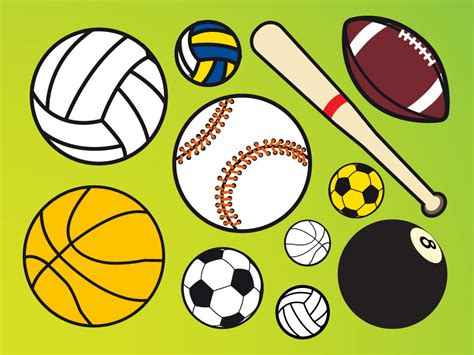 Cartoon Sports Balls