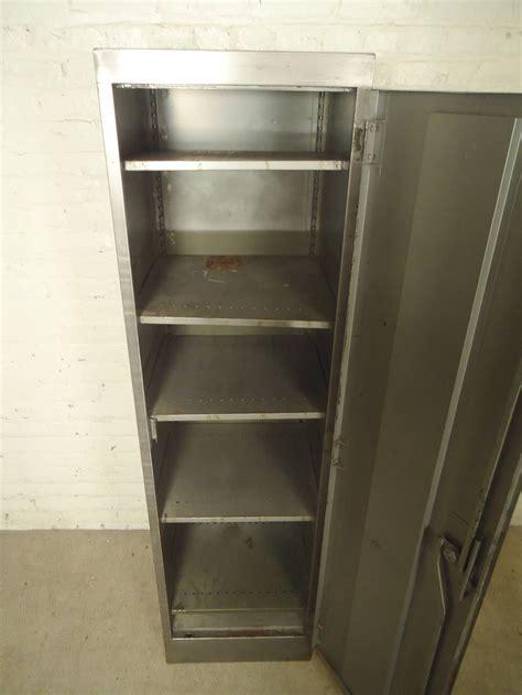 Tall Industrial Metal Locker Unit For Sale at 1stdibs