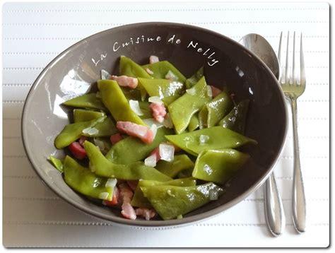 cuisiner haricots plats poêlée de haricots coco aux lardons la cuisine de nelly