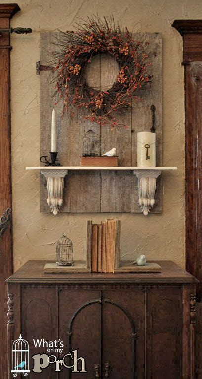 Reclaimed Vintage Wood Door Turned Wall Décor With A