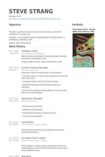 artist resume exles freelance artist resume sles visualcv resume sles database