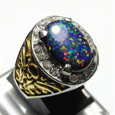 jual beli cincin batu akik kalimaya australia hitam lab