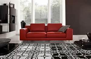 Sofa Schwarz Rot : moderne zimmerfarben ideen in 150 unikalen fotos ~ Markanthonyermac.com Haus und Dekorationen