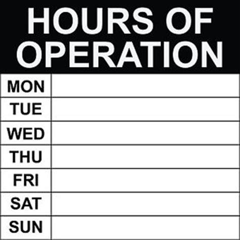 hours  operation sign    ebay