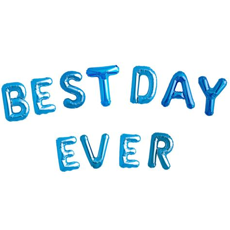 Best Day Ever Balloon Letters By Bubblegum Balloons