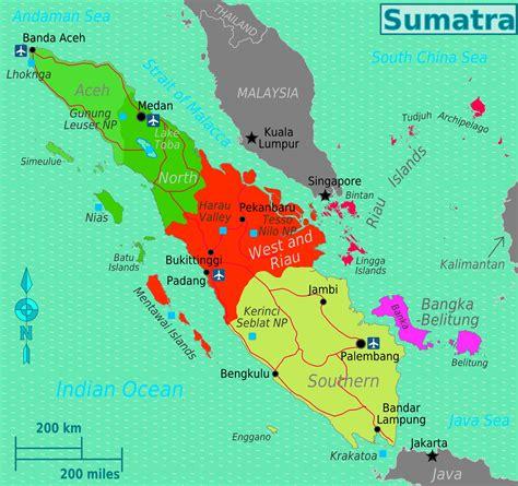 administrative divisions map  sumatra