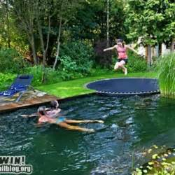 In Ground Pool with Trampoline