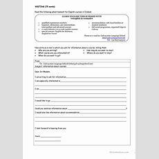 Asking For Information Email Worksheet  Free Esl