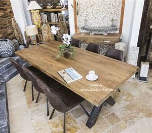 Esstisch Aus Holz : esstisch aus recyceltem holz mit rohstahl der tischonkel ~ Michelbontemps.com Haus und Dekorationen
