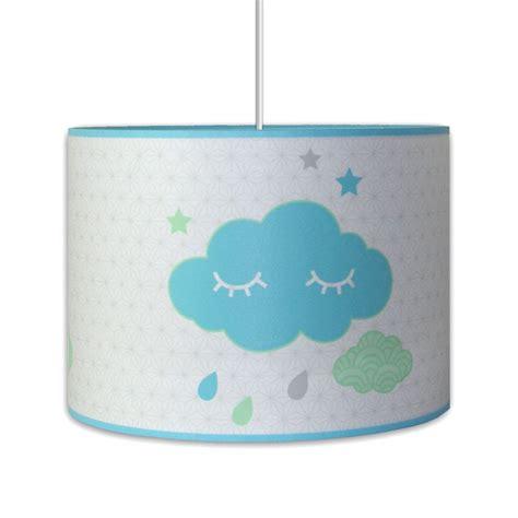 suspension chambre garcon suspension thème nuage bleu et blanc décoration chambre enfant