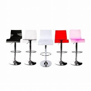 Tabouret De Bar Plexiglas : tabouret de bar pas cher blanc en plexiglass ~ Teatrodelosmanantiales.com Idées de Décoration