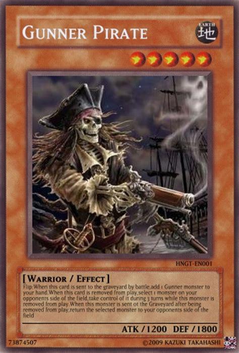 gunner pirate yu gi  card maker wiki cards decks