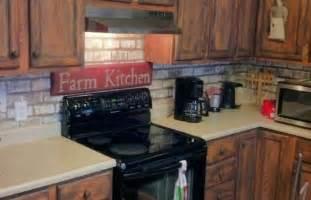 Faux Brick Kitchen Backsplash Faux Painted Brick Backsplash Wooden Products Quot Finish With Style Quot