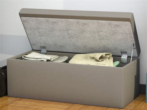 banc coffre chambre adulte banc coffre en simili plusieurs coloris madely l107 cm