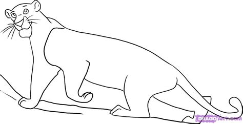 Step 5. How To Draw Bagheera From The Jungle Book
