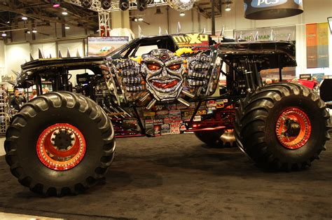 video of monster trucks maximum destruction monster truck rear three quarters