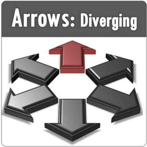 Divergence Template by Diverging Powerpoint Arrow Templates