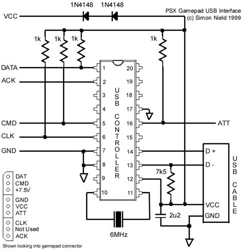 N64 Controller Wiring Diagram by Microcontroller Chips Quot Quot Usb Joystick All